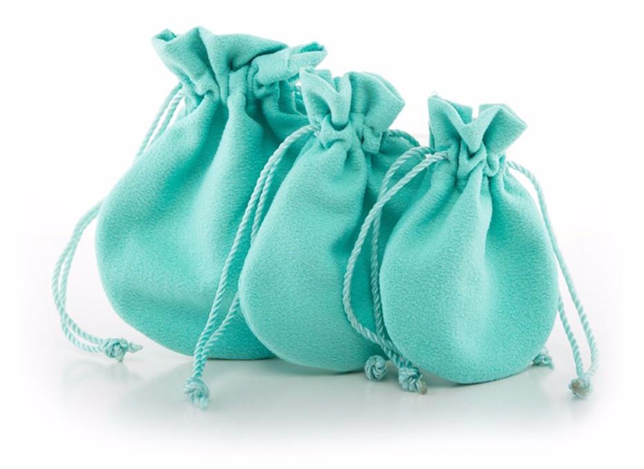 sacchetti in Alcantara per gioielli